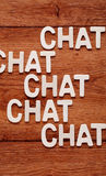 The word chat Royalty Free Stock Images