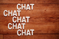The word chat Stock Photos