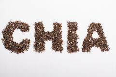 Word chia. Royalty Free Stock Photo