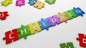 Word children Stock Image