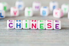 The word chinese Stock Images