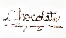 The Word Chocolate Stock Images