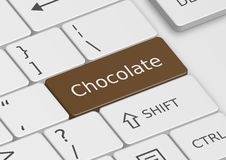 The word Chocolate written on the keyboard Royalty Free Stock Photos
