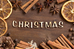The word of christmas Royalty Free Stock Images