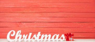 Word Christmas and gift Royalty Free Stock Image