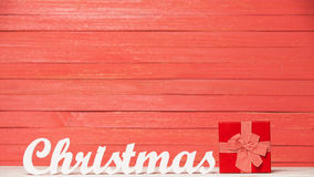 Word Christmas and gift Stock Images