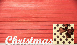 Word Christmas and gift Stock Photos