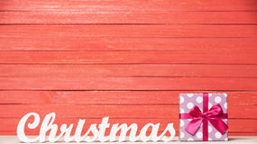 Word Christmas and gift Stock Photography
