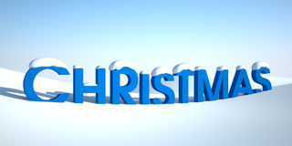 Word christmas in snow Stock Image