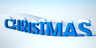 Word Christmas in snow Royalty Free Stock Photography