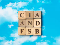 The word CIA and FSB Stock Image