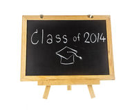 Word class of 2014 on board. Isolated on white background Stock Images