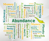 Word Cloud - Abundance with Horn of Abundance Icon Royalty Free Stock Image