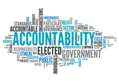 Word Cloud Accountability. Word Cloud with Accountability related tags Stock Photos