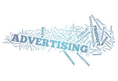 Word Cloud Advertising Royalty Free Stock Image