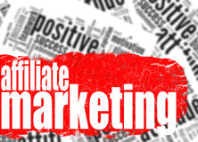 Word cloud affiliate marketing Royalty Free Stock Photography