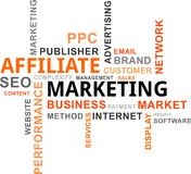 Word cloud - affiliate marketing. A word cloud of affiliate marketing related items vector illustration