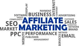 Word cloud - affiliate marketing Stock Photo