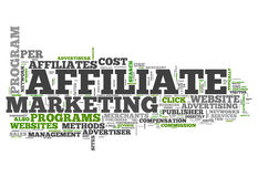 Word Cloud Affiliate Marketing Royalty Free Stock Images