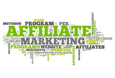 Word Cloud Affiliate Marketing Royalty Free Stock Photo