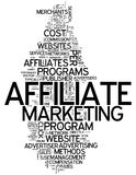 Word Cloud Affiliate Marketing. Word Cloud with Affiliate Marketing related tags Royalty Free Stock Photo
