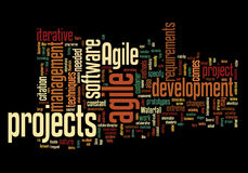 Word cloud with agile project concept Stock Images