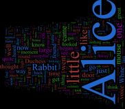 Word Cloud - Alice in Wonderland. Word Cloud - Lewis Carroll's Alice in Wonderland Stock Images