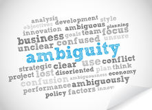Word Cloud Ambiguity. Abstract background Royalty Free Stock Photography