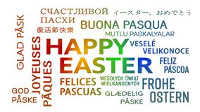 Word cloud animation - happy easter - colorful stock illustration