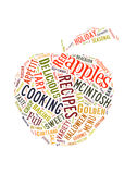 Word Cloud about apples royalty free stock photos