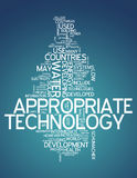 Word Cloud Appropriate Technology. Word Cloud with Appropriate Technology related tags Royalty Free Stock Photos
