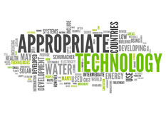 Word Cloud Appropriate Technology. Word Cloud with Appropriate Technology related tags Stock Image
