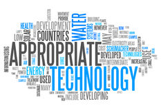 Word Cloud Appropriate Technology. Word Cloud with Appropriate Technology related tags Stock Images