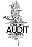 Word Cloud Audit. Word Cloud with Audit related tags Royalty Free Stock Photography