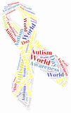 Word cloud autism awareness related Stock Images