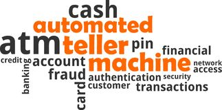Word cloud - automated teller machine Stock Photo
