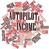 Word cloud for Autopilot Income. Abstract word cloud for Autopilot Income with related tags and terms Stock Photo