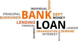 Word cloud - bank loan Stock Photography