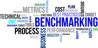 Word cloud - benchmarking Stock Photo