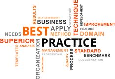 Word cloud - best practice Stock Photography