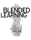 Word Cloud Blended Learning. Word Cloud with Blended Learning related tags Stock Photos