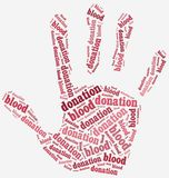 Word cloud blood donation related Stock Photos