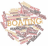 Word cloud for Boating. Abstract word cloud for Boating with related keywords and terms Stock Photos