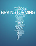 Word Cloud Brainstorming. Word Cloud with Brainstorming related tags Royalty Free Stock Images