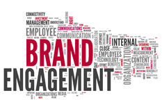 Word Cloud Brand Engagement. Word Cloud with Brand Engagement related tags Stock Photo