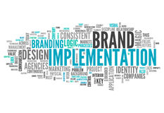 Word Cloud Brand Implementation. Word Cloud with Brand Implementation related tags Stock Photography