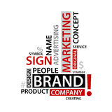 Word Cloud with branding tags,  business concept Stock Photos