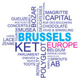 Word cloud brussels Royalty Free Stock Photo