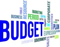 Word cloud - budget. A word cloud of budget related items Stock Photo