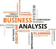 Word cloud - business analysis. A word cloud of business analysis related items Royalty Free Stock Images